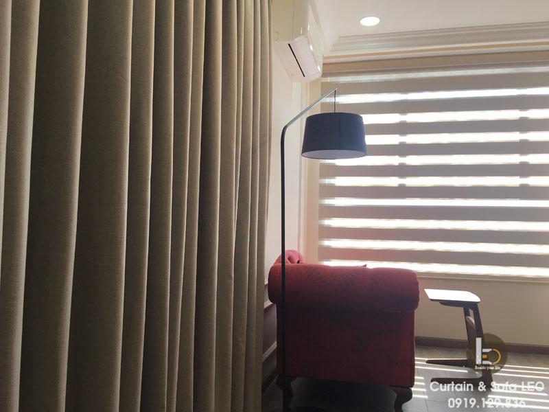 Rèm cửa vải George (xuất xứ Singapore) bạ chống nắng, giúp cản nắng 100%