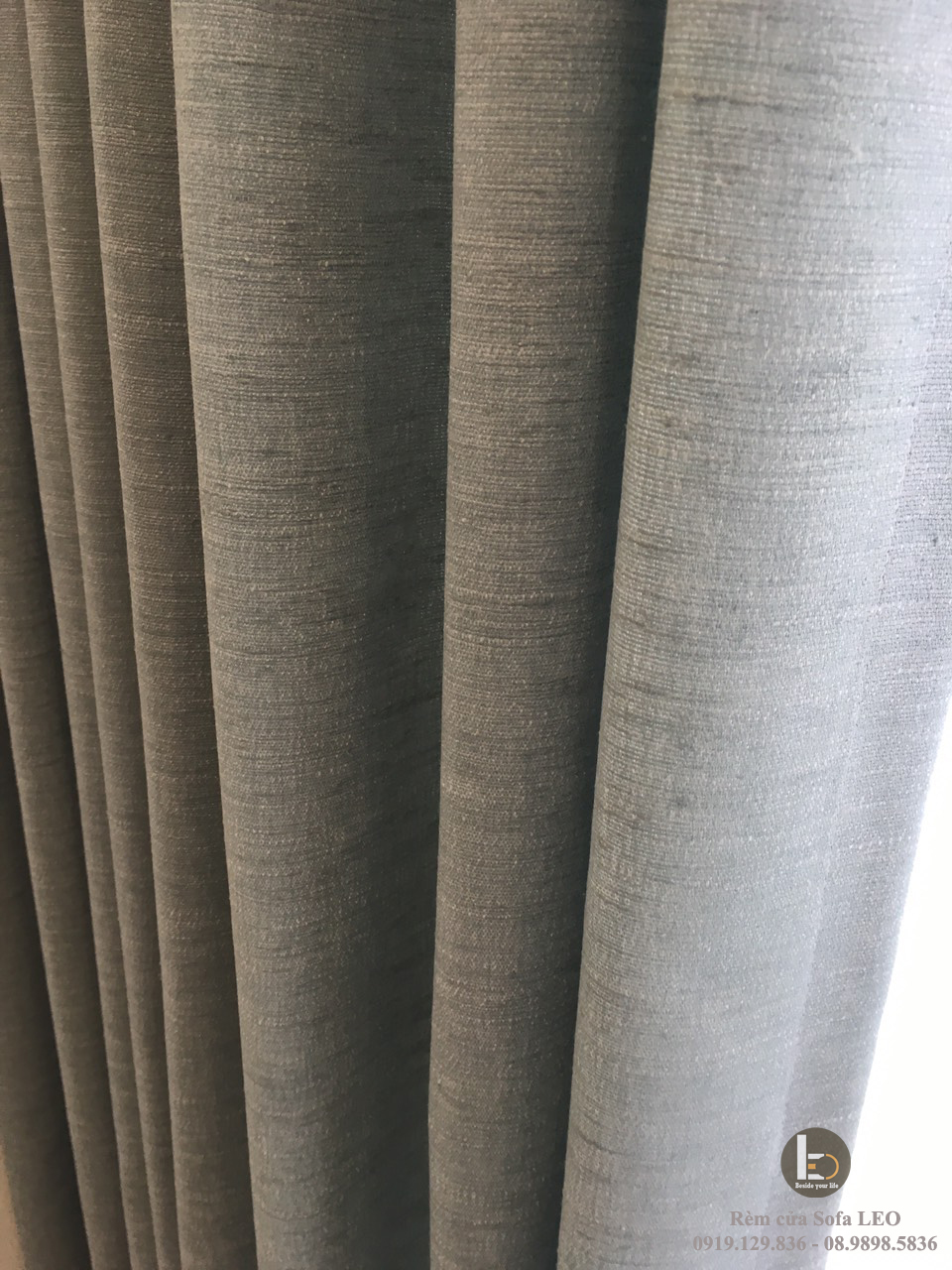 Rèm 2 lớp vải bố Provence