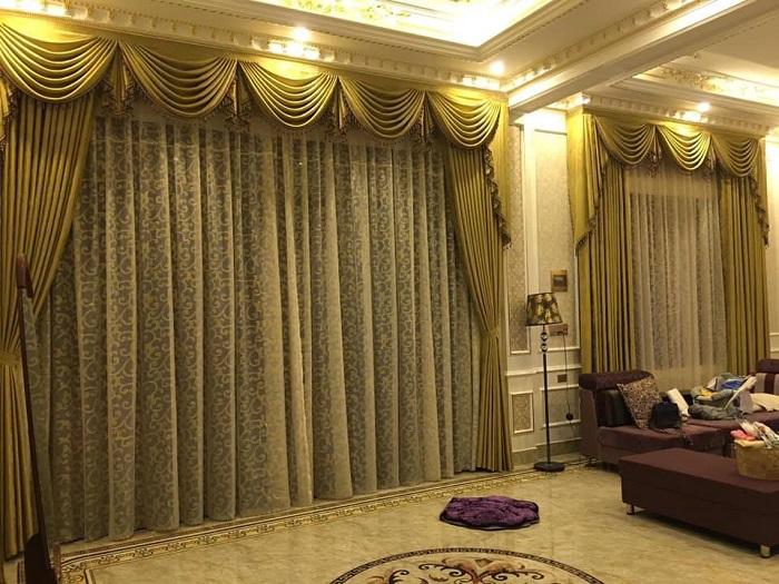 Mẫu rèm cửa biệt thự sang trọng cho không gian nhà