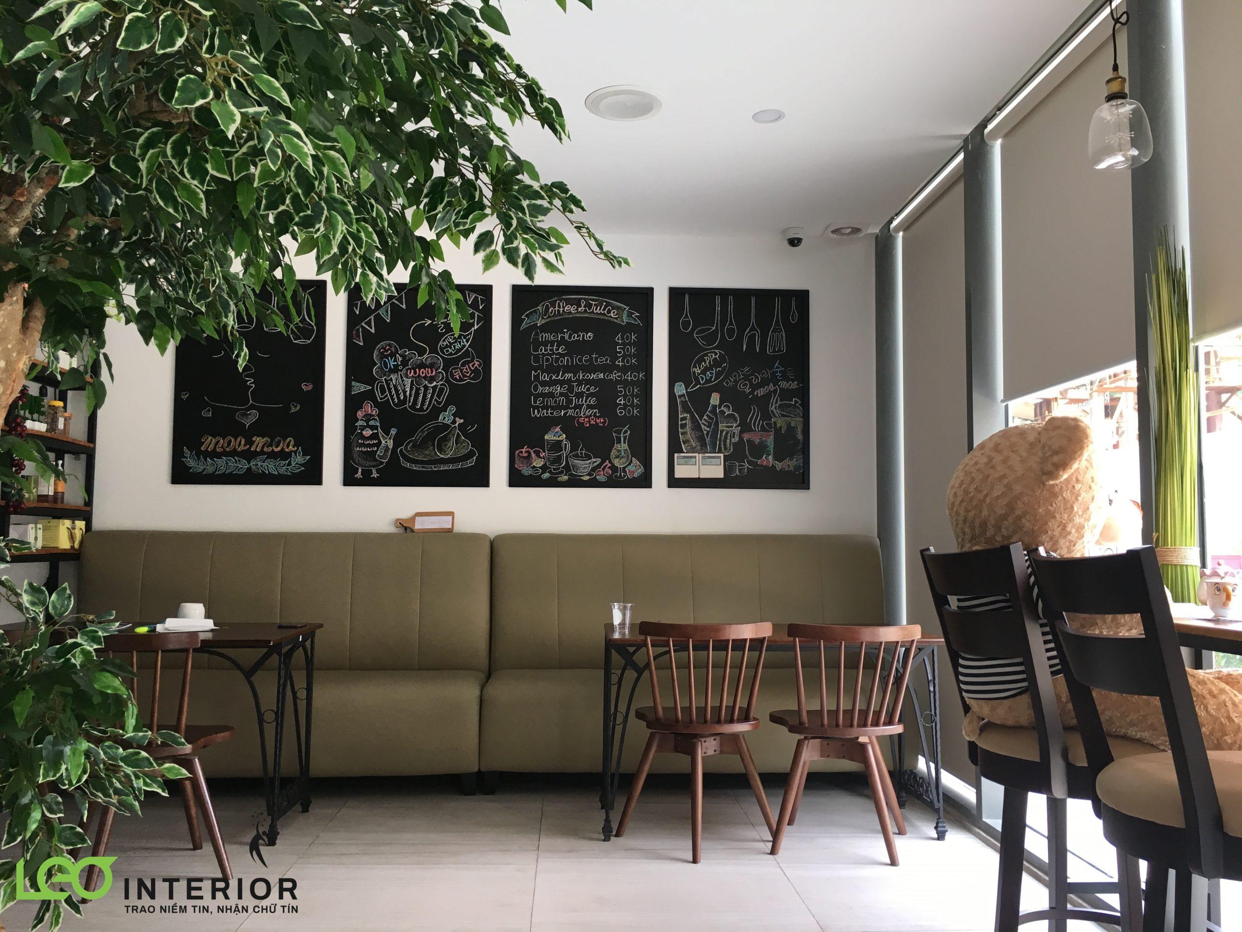 Thi công rèm cuốn tại nhà hàng Moa Moa Hàn Quốc